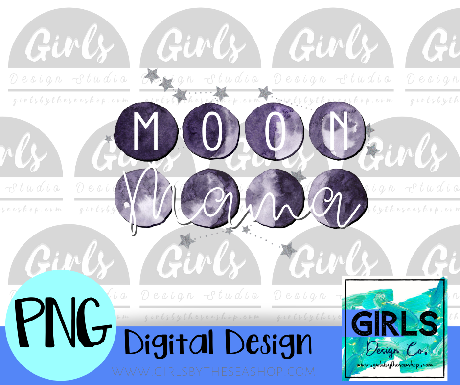 Moon Mama DIGITAL FILE-Digital, Digital Design, Digital File, DTG, Halloween, Moon Mama, PNG, Sublimation, SVG, Transfer-Shop-Wholesale-Womens-Boutique-Custom-Graphic-Tees-Branding-Gifts