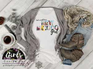 S - NEW MEXICO Small Town Girl T-Shirt - Adults / Youth / Baby-Shop-Wholesale-Womens-Boutique-Custom-Graphic-Tees-Branding-Gifts