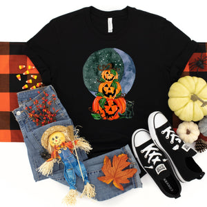 WHOLESALE :: Pumpkin Moon Stack~Black-Shop-Wholesale-Womens-Boutique-Custom-Graphic-Tees-Branding-Gifts
