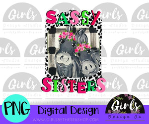 Sassy Sisters DIGITAL FILE-desser, Digital, Digital Design, Digital File, FarmDesign, PNG, Sublimation, SVG, Transfer-Shop-Wholesale-Womens-Boutique-Custom-Graphic-Tees-Branding-Gifts