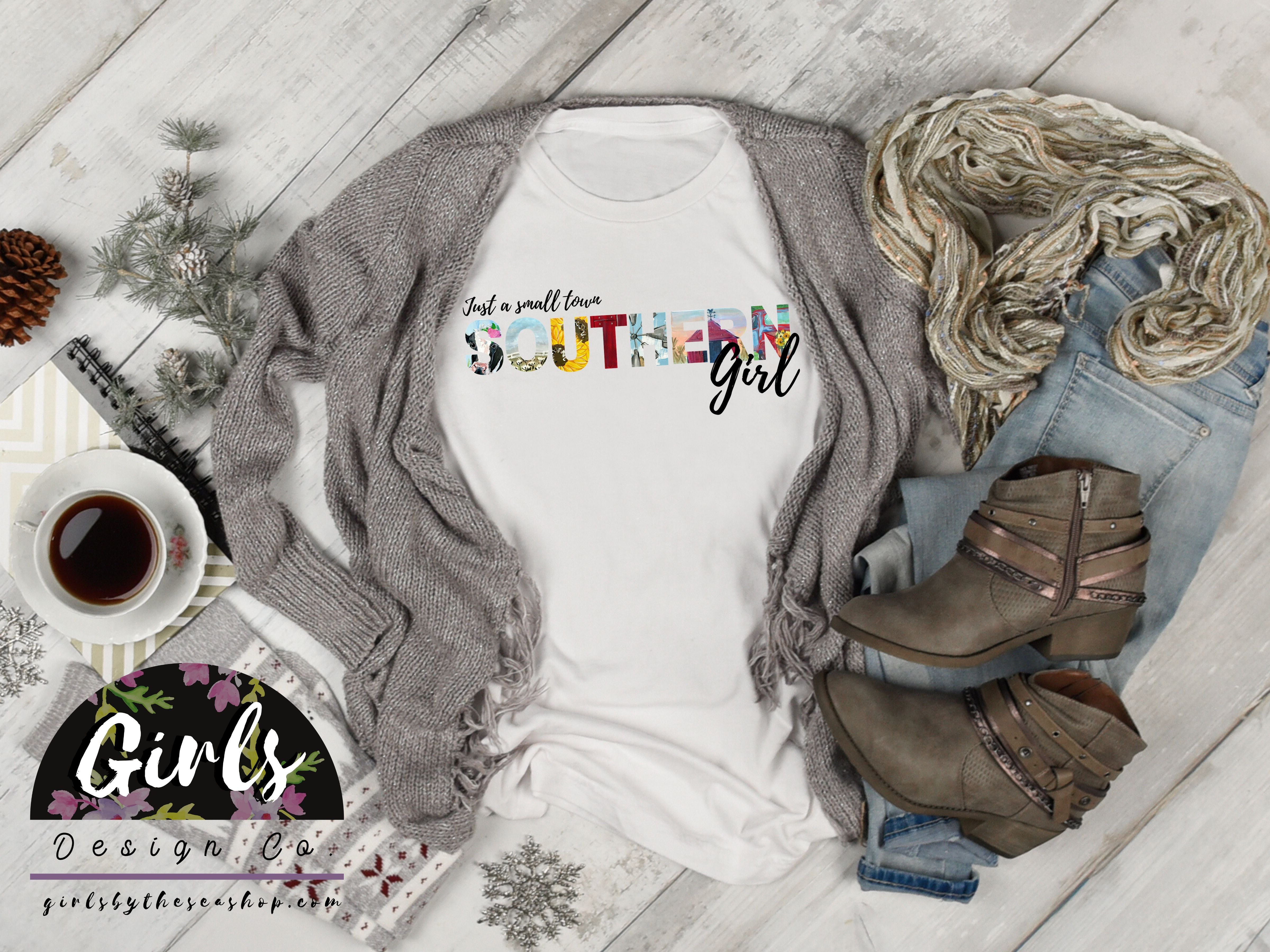 Small Town SOUTHERN Girl T-Shirt - Adults / Youth / Baby-Gift, retailshirts, southern, State-Shop-Wholesale-Womens-Boutique-Custom-Graphic-Tees-Branding-Gifts