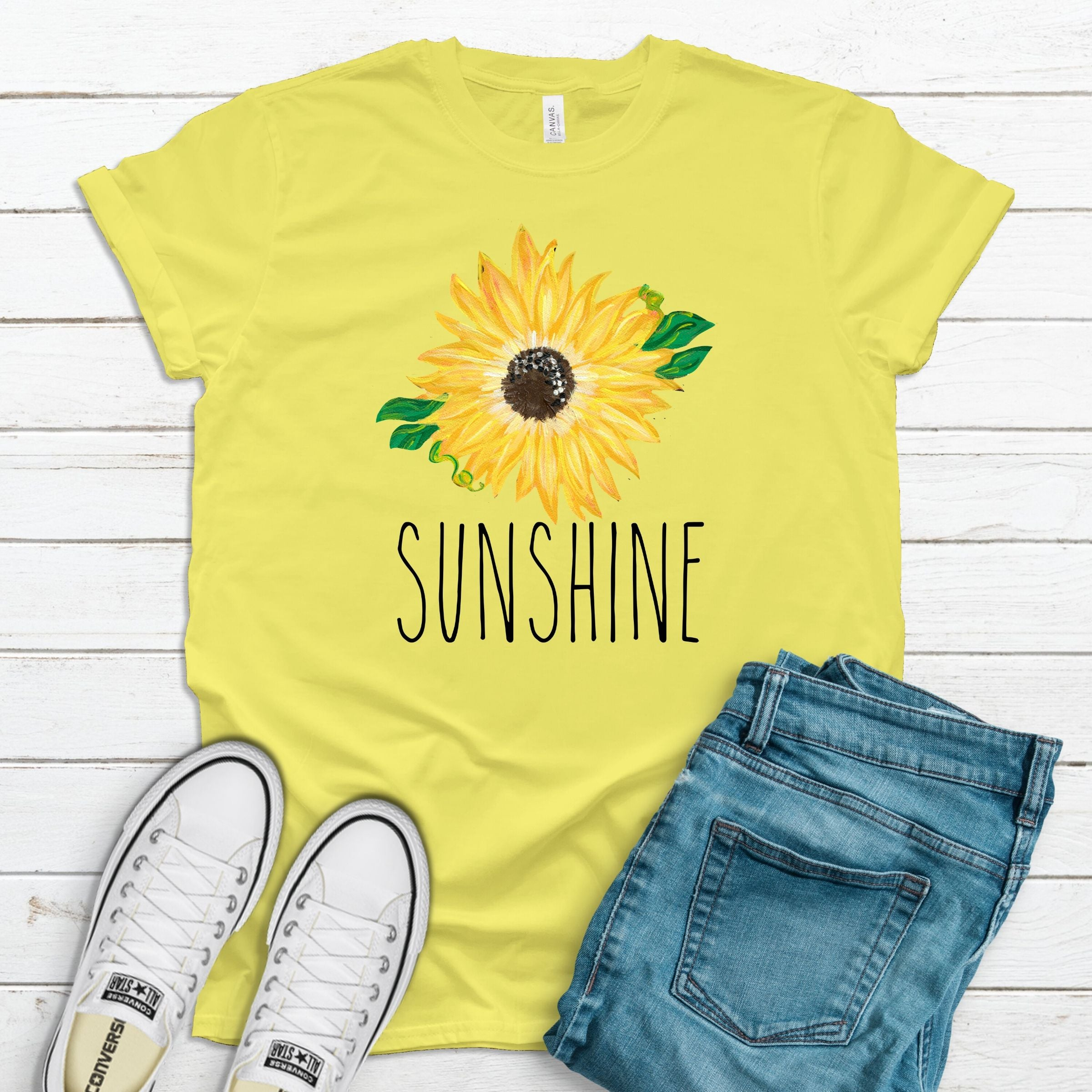 S - Sunshine with Sunflower