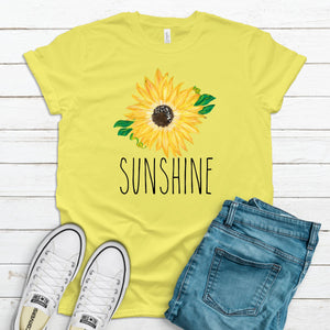 S - Sunshine with Sunflower-Shop-Wholesale-Womens-Boutique-Custom-Graphic-Tees-Branding-Gifts