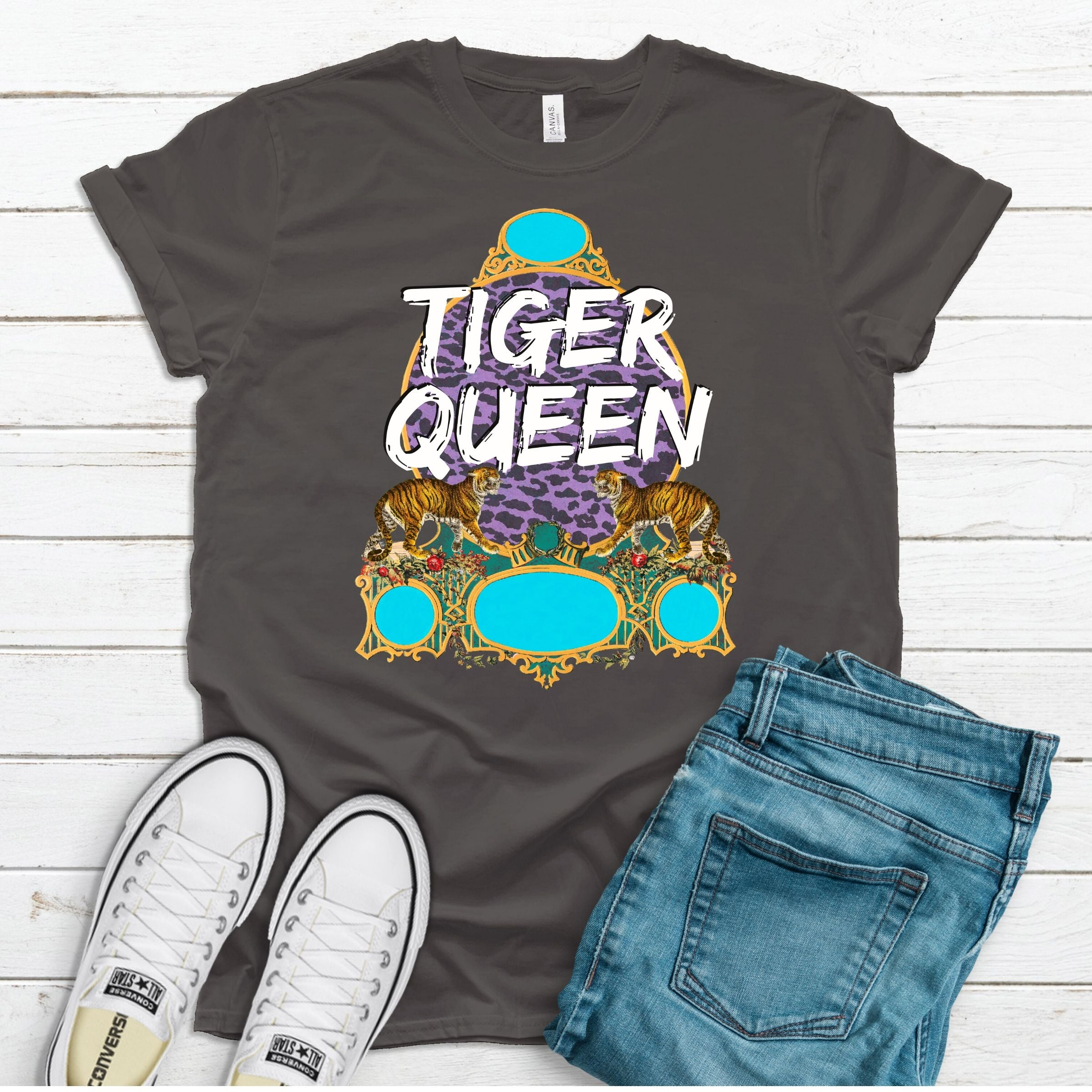 Wholesale :: Tiger Queen - Asphalt-Shop-Wholesale-Womens-Boutique-Custom-Graphic-Tees-Branding-Gifts