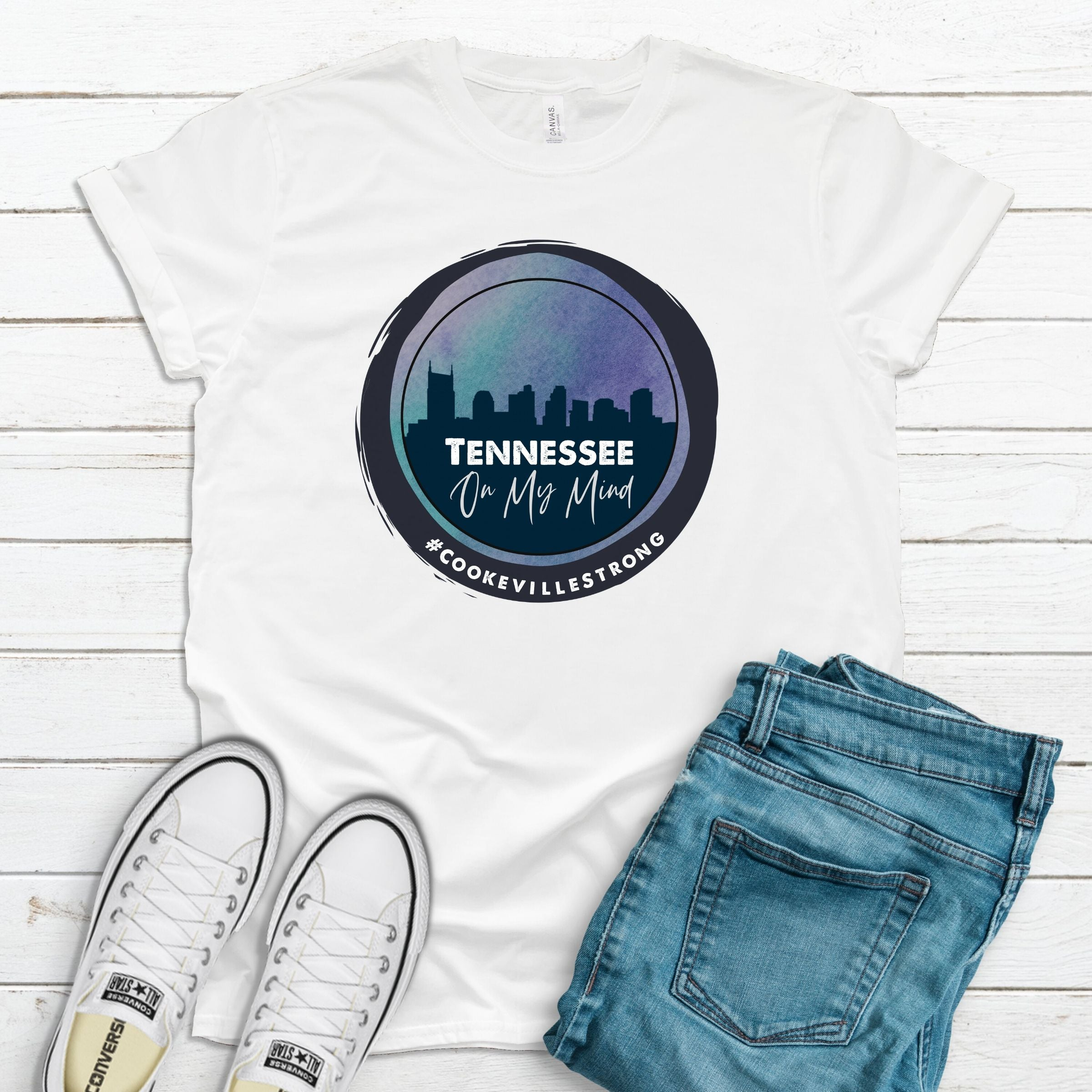 WHOLESALE :: #CookevilleStrong Fundraiser Shirt-Shop-Wholesale-Womens-Boutique-Custom-Graphic-Tees-Branding-Gifts