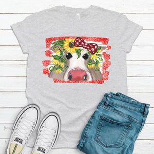 S - Sunflower Cow - Gray