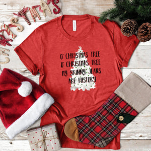 WHOLESALE :: O Christmas Tree~ Heather Red-WXmas-Shop-Wholesale-Womens-Boutique-Custom-Graphic-Tees-Branding-Gifts