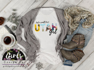 UTAH Small Town Girl T-Shirt - Adults / Youth / Baby-Gift, retailshirts, State, Utah-Shop-Wholesale-Womens-Boutique-Custom-Graphic-Tees-Branding-Gifts