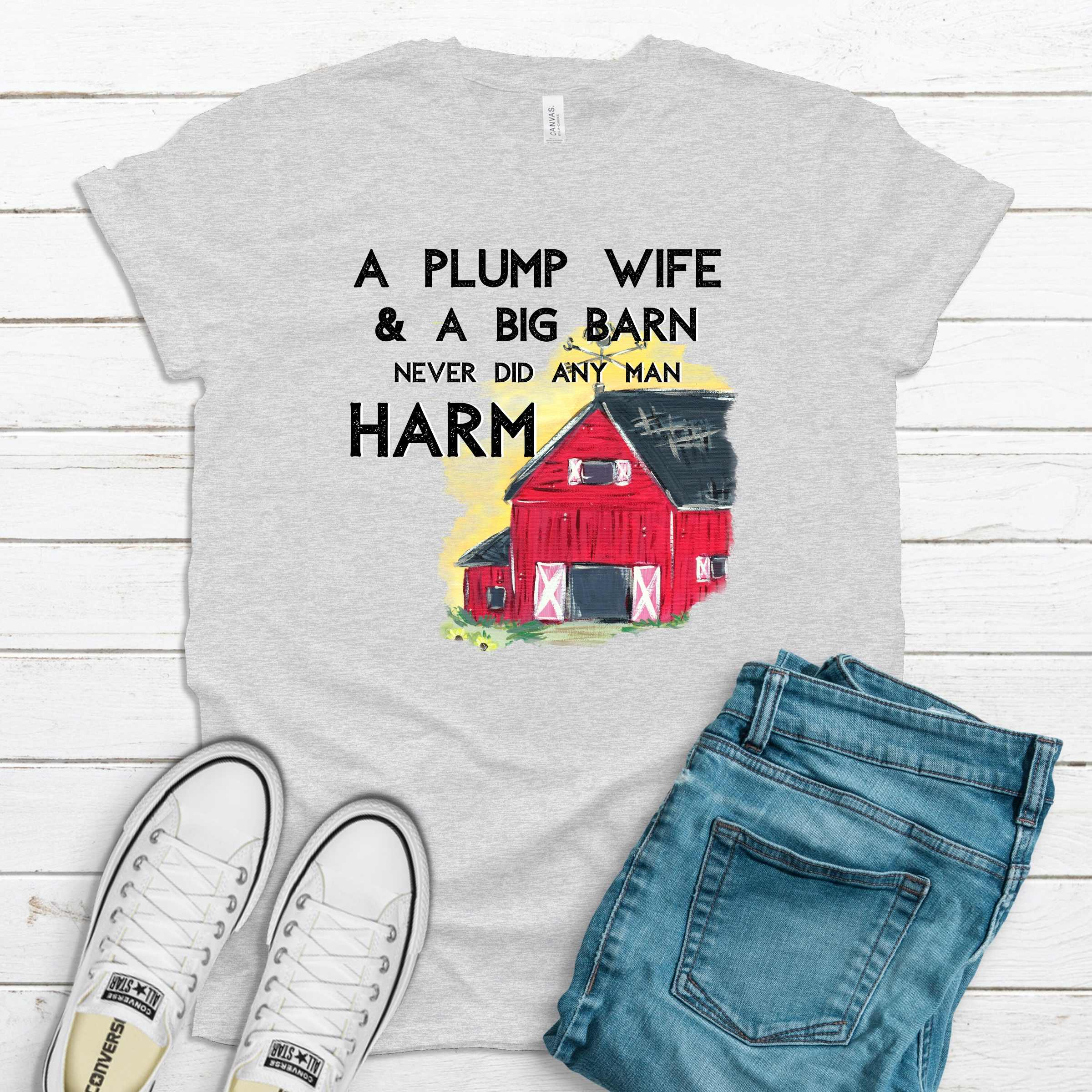 S - Plump Wife Ash Gray Shirt-farmapp-Shop-Wholesale-Womens-Boutique-Custom-Graphic-Tees-Branding-Gifts