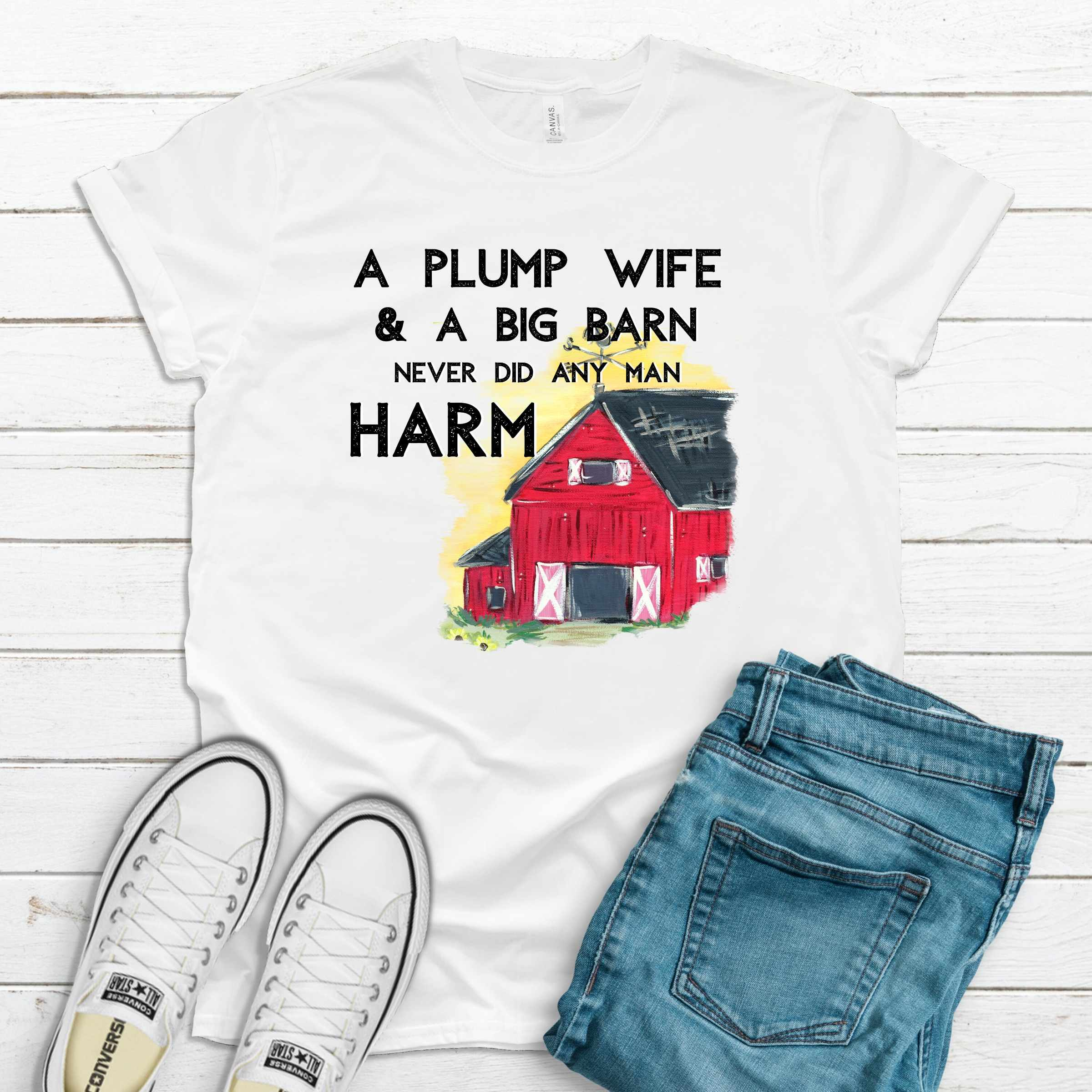 S -Plump Wife White Shirt-Shop-Wholesale-Womens-Boutique-Custom-Graphic-Tees-Branding-Gifts