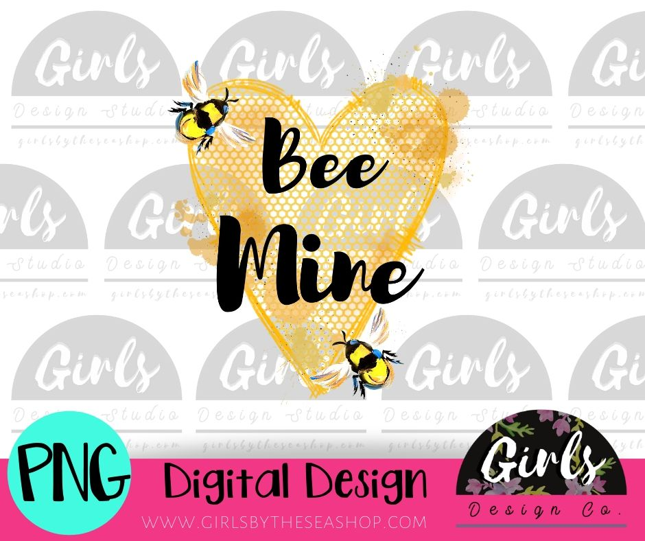 Bee Mine Valentines DIGITAL FILE-desser, Digital, Digital Design, Digital File, PNG, Sublimation, SVG, Transfer-Shop-Wholesale-Womens-Boutique-Custom-Graphic-Tees-Branding-Gifts