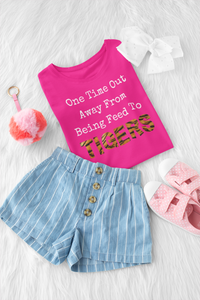 One Time Out Away T-Shirt Berry - Youth-exotic, kids, tiger-Shop-Wholesale-Womens-Boutique-Custom-Graphic-Tees-Branding-Gifts