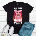 This Little Piggie Stayed Home T-Shirt - Adults-black, home, pig-Shop-Wholesale-Womens-Boutique-Custom-Graphic-Tees-Branding-Gifts