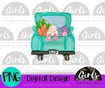 Bunny Hop Truck DIGITAL FILE-desser, Digital, Digital Design, Digital File, PNG, Sublimation, SVG, Transfer-Shop-Wholesale-Womens-Boutique-Custom-Graphic-Tees-Branding-Gifts