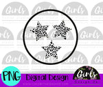 Cheetah Tri Star DIGITAL FILE-ADDMember, desser, Digital, Digital Design, Digital File, PNG, Sublimation, SVG, Transfer-Shop-Wholesale-Womens-Boutique-Custom-Graphic-Tees-Branding-Gifts