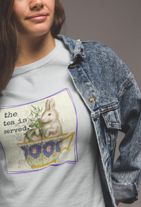 The Tea Is Served T-Shirt - Adult-eretailshirt, Gift-Shop-Wholesale-Womens-Boutique-Custom-Graphic-Tees-Branding-Gifts