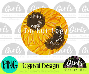 Sunflower Car Coaster DIGITAL FILE
