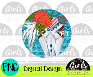 Boho Floral Skull Car Coaster DIGITAL FILE