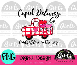 Cupid Delivery Co Truck  DIGITAL FILE
