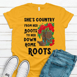S - She's Country - Mustard-Shop-Wholesale-Womens-Boutique-Custom-Graphic-Tees-Branding-Gifts