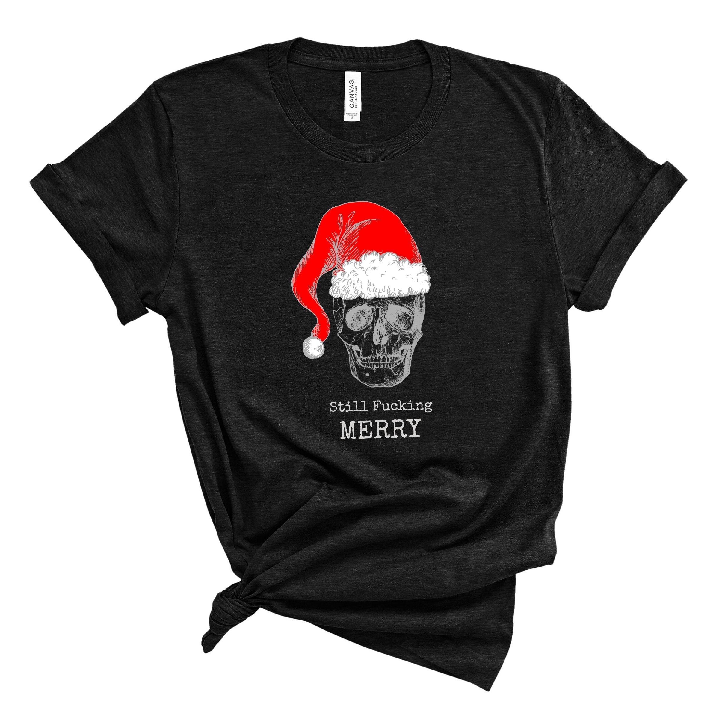 WHOLESALE :: Fucking Merry~ Black-WXmas-Shop-Wholesale-Womens-Boutique-Custom-Graphic-Tees-Branding-Gifts