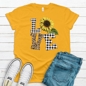 S -Love Sunflower - Gold-sassandsoul, Seasonal-Shop-Wholesale-Womens-Boutique-Custom-Graphic-Tees-Branding-Gifts