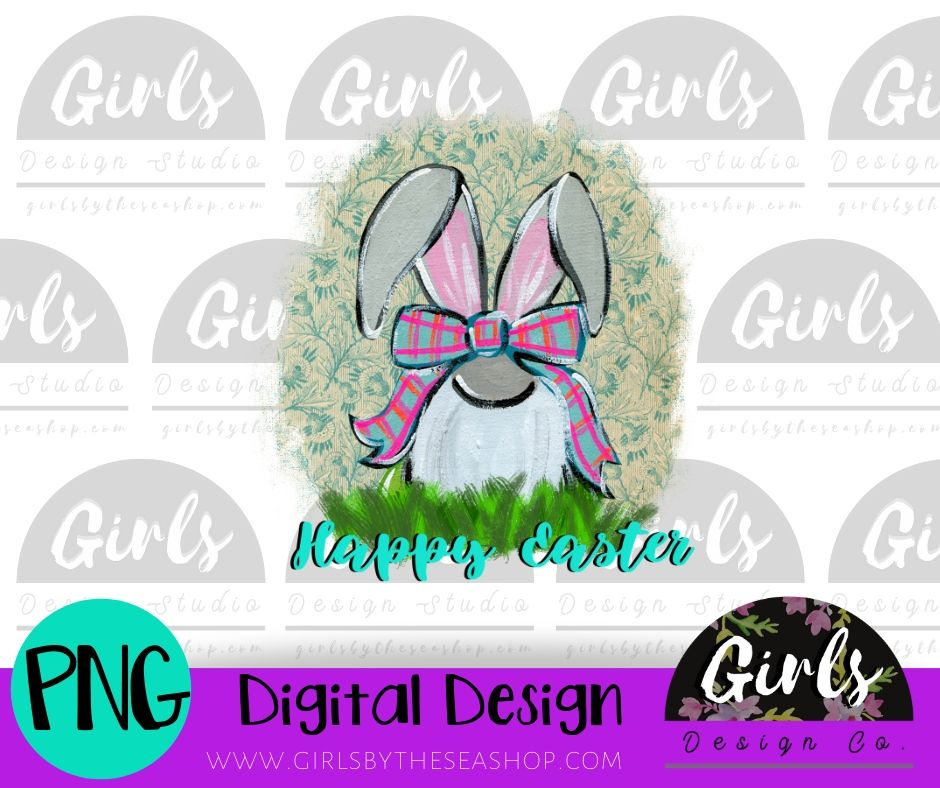 Happy Easter Gnome DIGITAL FILE-Bunny Gnome, Digital, Digital Design, Digital File, Easter, Easter Bunny, Easter Gnome, Happy Easter, PNG, Quote, Sublimation, SVG, Transfer-Shop-Wholesale-Womens-Boutique-Custom-Graphic-Tees-Branding-Gifts