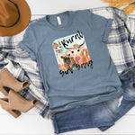 WHOLESALE :: Rural Girl Gang ~ Heather Slate ~ Adult T Shirt-1217-Shop-Wholesale-Womens-Boutique-Custom-Graphic-Tees-Branding-Gifts