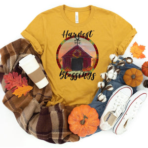 Harvest Blessings ~ Gold ~ Adult T-Shirt