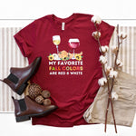 Fall Colors ~ Cardinal ~ Adult T-Shirt-Shop-Wholesale-Womens-Boutique-Custom-Graphic-Tees-Branding-Gifts
