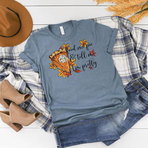 Feed Me Pie ~ Heather Slate ~ Adult T-Shirr-Shop-Wholesale-Womens-Boutique-Custom-Graphic-Tees-Branding-Gifts