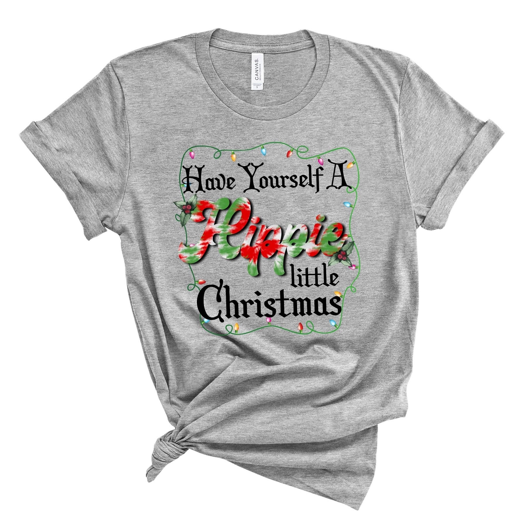 Hippie Christmas ~ Athletic Heather ~ Adult T-Shirt