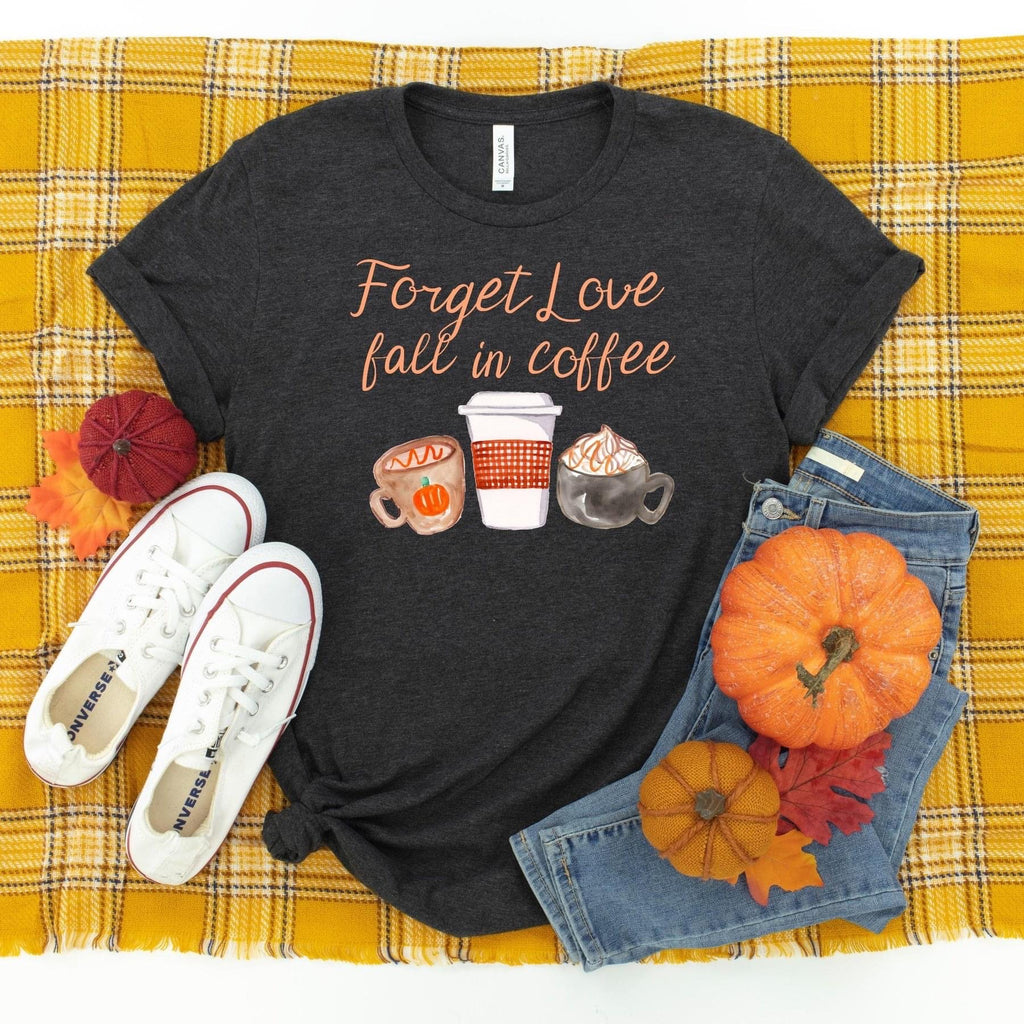 Forget Love ~ Dark Grey ~ Adult T-Shirt-Shop-Wholesale-Womens-Boutique-Custom-Graphic-Tees-Branding-Gifts