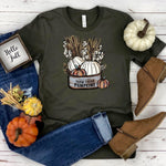 Farm Fresh Pumpkins ~ Army ~ Adult T-Shirt-Shop-Wholesale-Womens-Boutique-Custom-Graphic-Tees-Branding-Gifts