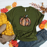 Tie Dye Pumpkin ~ Olive ~ Adult T-Shirt-Shop-Wholesale-Womens-Boutique-Custom-Graphic-Tees-Branding-Gifts