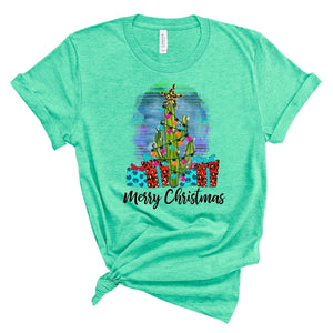 Serape Christmas ~ Mint ~ Adult T-Shirt
