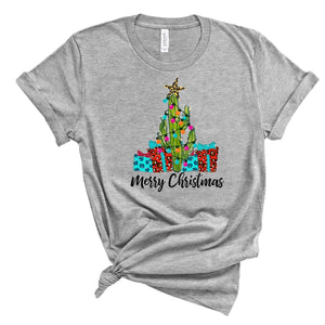 Merry Christmas ~ Athletic Heather ~ Adult T-Shirt