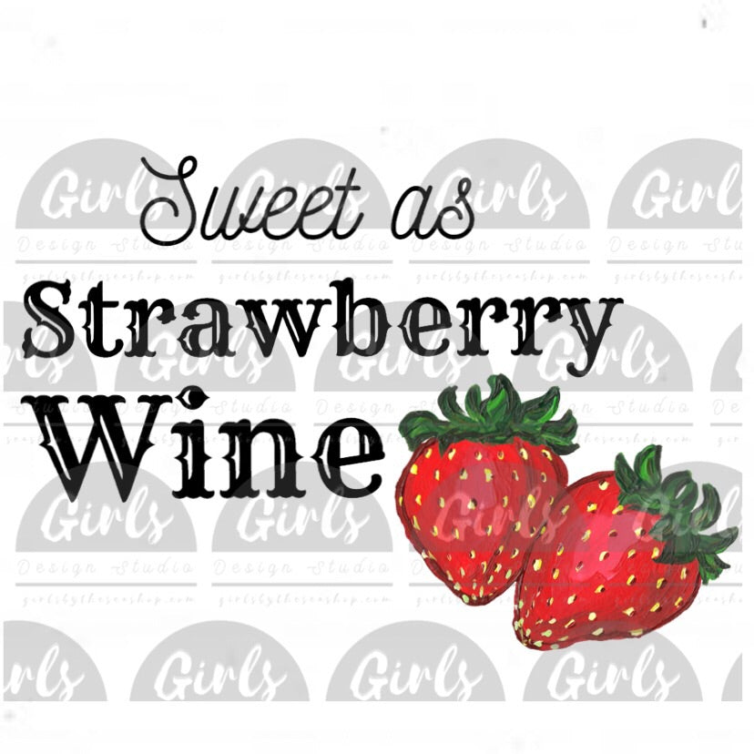 Strawberry Wine DIGITAL FILE-desser, Digital, Digital Design, Digital File, PNG, strawberries, strawberry, Sublimation, SVG, sweet, Transfer, wine, wine glass-Shop-Wholesale-Womens-Boutique-Custom-Graphic-Tees-Branding-Gifts