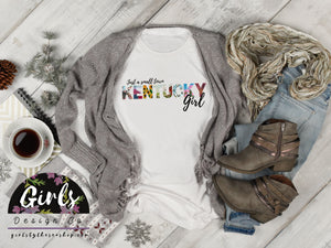KENTUCKY Small Town Girl T-Shirt - Adults / Youth / Baby-Gift, KENTUCKY, retailshirts, State-Shop-Wholesale-Womens-Boutique-Custom-Graphic-Tees-Branding-Gifts