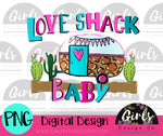 Love Shack Baby Camper DIGITAL FILE-desser, Digital, Digital Design, Digital File, PNG, Sublimation, SVG, Transfer-Shop-Wholesale-Womens-Boutique-Custom-Graphic-Tees-Branding-Gifts