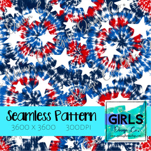 Patriotic Tie Dye With Stars SEAMLESS FILE-Digital, Digital Design, Digital File, Digital Paper, Fabric, Patriotic, Seamless, Seamlessdesign, Stars, Sublimation, summer, tie dye-Shop-Wholesale-Womens-Boutique-Custom-Graphic-Tees-Branding-Gifts