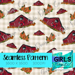 Plaid Pumpkin Barns SEAMLESS FILE-Barns, Digital, Digital Design, Digital File, Digital Paper, Fabric, Fall, Orange, Plaid, Pumpkin Barn, Pumpkins, Seamless, Seamlessdesign, Sublimation, summer-Shop-Wholesale-Womens-Boutique-Custom-Graphic-Tees-Branding-Gifts