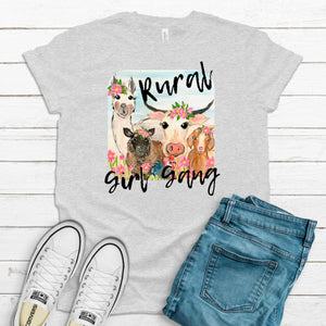 S - Rural Girl Gang Ash Gray Shirt