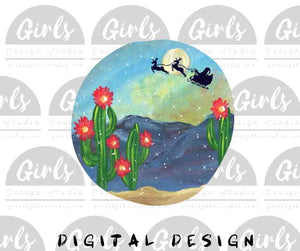 Christmas Eve Cactus DIGITAL FILE-ChristmasDesign, Digital, Digital Design, Digital File, PNG, Sublimation, SVG, Transfer-Shop-Wholesale-Womens-Boutique-Custom-Graphic-Tees-Branding-Gifts