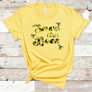 S - Save The Bees Tie Dye - Yellow