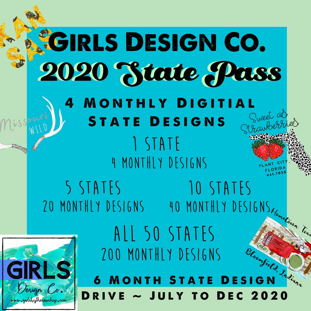 2020 State Pass ~  6 Month Digital Design Drive