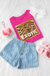 Stay Exotic T-Shirt Berry - Youth-exotic, kids, tiger-Shop-Wholesale-Womens-Boutique-Custom-Graphic-Tees-Branding-Gifts