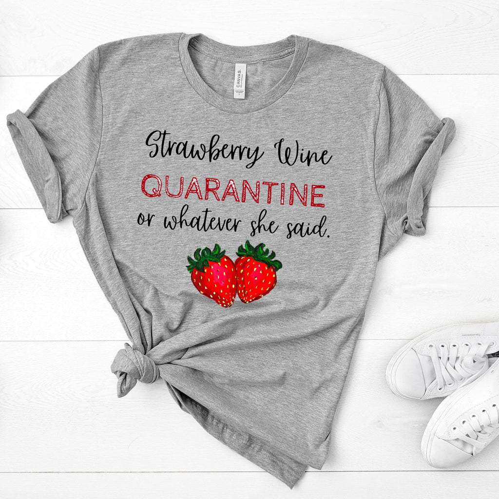 Strawberry Wine T-Shirt - Adults-flowers, Gift, home, house-Shop-Wholesale-Womens-Boutique-Custom-Graphic-Tees-Branding-Gifts