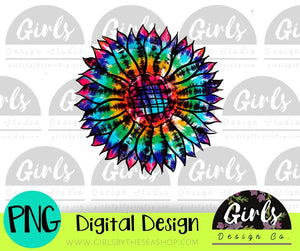Tie Dye Sunflower DIGITAL FILE