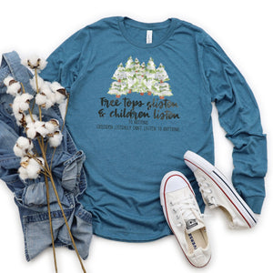 WHOLESALE :: Children Listen~ Long Sleeve ~ Teal-WXmas-Shop-Wholesale-Womens-Boutique-Custom-Graphic-Tees-Branding-Gifts
